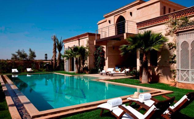 fifm 2015 loger dans une villa marrakech avec piscine priv e. Black Bedroom Furniture Sets. Home Design Ideas